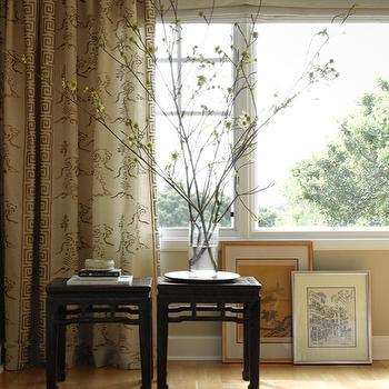 Greek Key Trim, Asian, bedroom, Shirley Parks Design