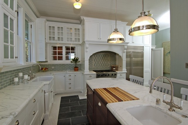 Kitchen Island Chandeliers Transitional Kitchen