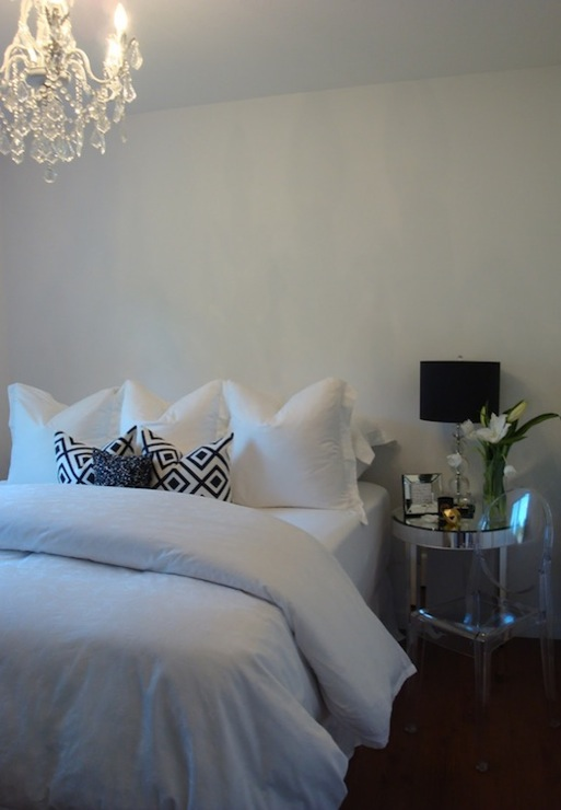 Mirrored Bedside Table Contemporary bedroom For the Love of