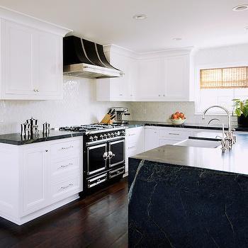 Black and White Kitchen, Transitional, kitchen, Courtney Blanton Interiors