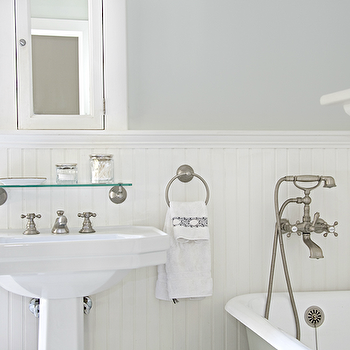 White Beadboard Bathroom, Cottage, bathroom, Titan and Co