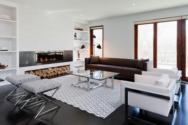 Modern fireplace contemporary living room haus interior for Built in designs living room