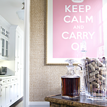 Pink Keep Calm and Carry On, Transitional, kitchen, Titan and Co