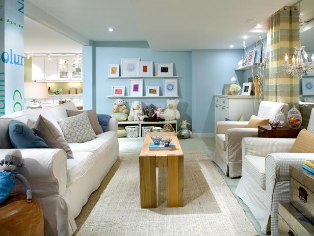 Candice olson family room contemporary basement - Basement family room ideas ...