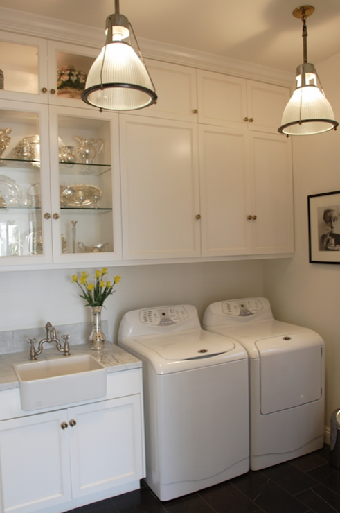 Washer and dryer in kitchen transitional laundry room Design a laundr room laout