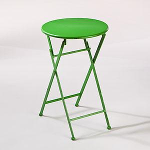 green metal folding accent table outdoor and patio furniture furniture world market - Outdoor Accent Tables