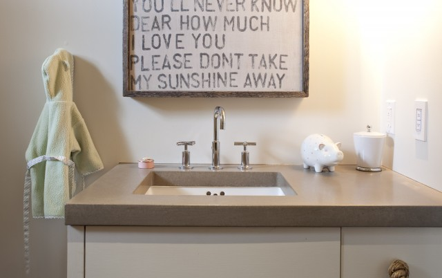 Gray Bathroom Countertops Design Ideas