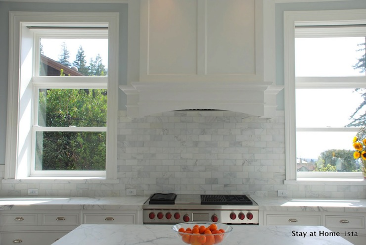 marble subway tile transitional kitchen stay at homeista