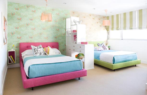 Room Divider Contemporary Girl S Room Erinn V Design Group