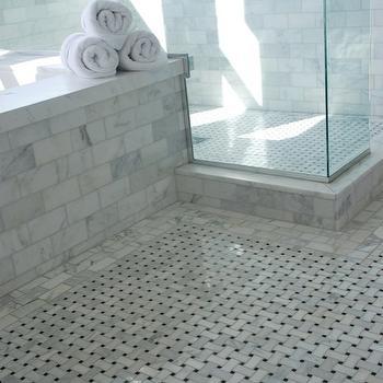Basketweave Marble Tiles Design Ideas