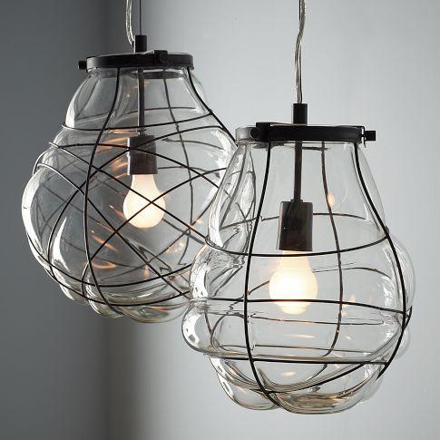 Paxton Glass Single Pendants Pottery Barn