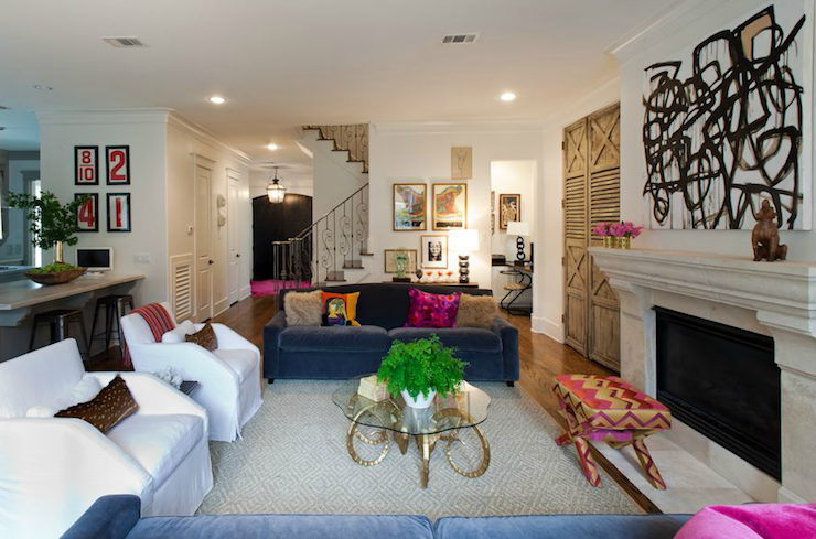 Open Living Room - Transitional - living room - Sally Wheat Interiors