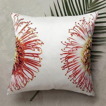 Clinton Friedman Protea Pillow Cover, west elm