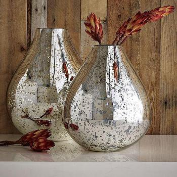 Silver Mercury Vases, west elm
