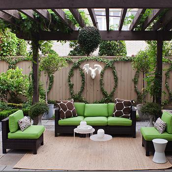 Garden Pergola Transitional Deck Patio