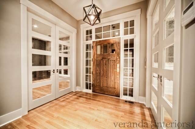 Foyer Door Hardware : Mirrored doors country entrance foyer veranda interiors