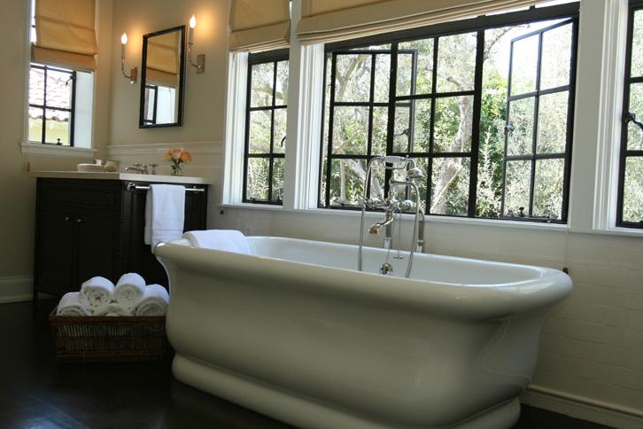 Bathroom Vanity Under Window tub under window - transitional - bathroom - burnham design