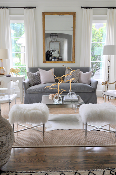 Mirror Coffee Table, Contemporary, living room, Sally Wheat Interiors