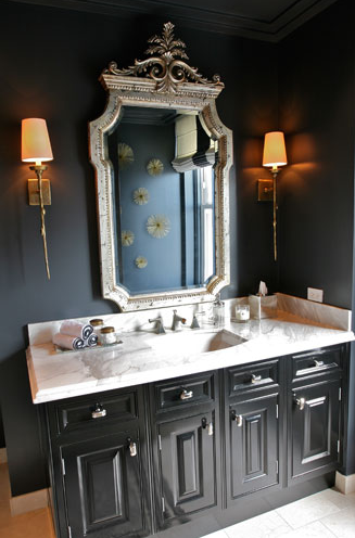 glossy black bathroom vanity design ideas, Home design