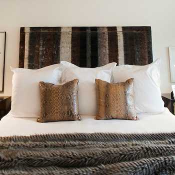 Python Pillows, Eclectic, bedroom, Sally Wheat Interiors
