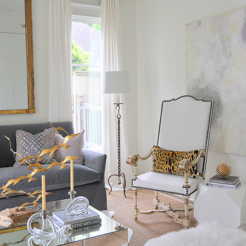 Cheetah Pillow, Eclectic, living room, Sally Wheat Interiors