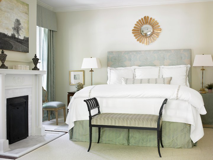 Damask Headboard Traditional Bedroom Courtney Giles Interiors