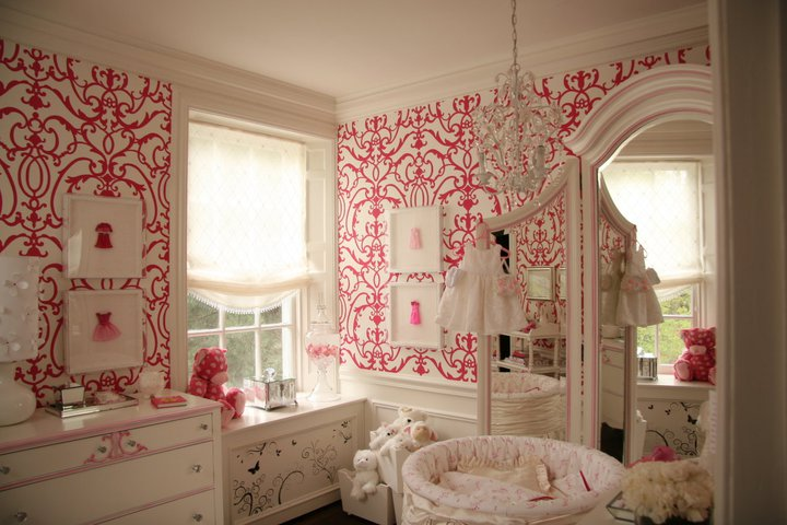 Wallpaper For Girls Nursery Traditional Nursery