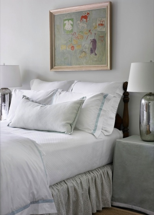 Skirted Nightstand Cottage Bedroom Courtney Giles