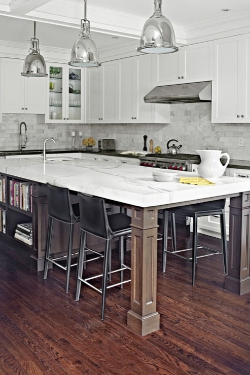 Long Kitchen Island Contemporary Kitchen Palmerston
