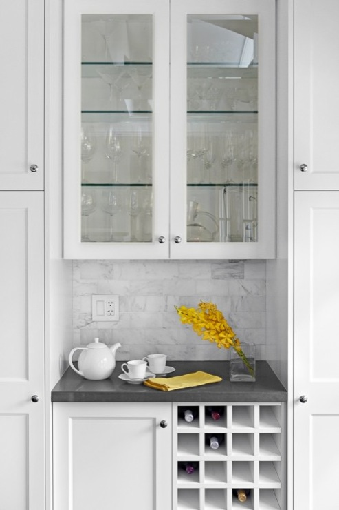 Built in wine rack contemporary kitchen benjamin for Wine rack built in