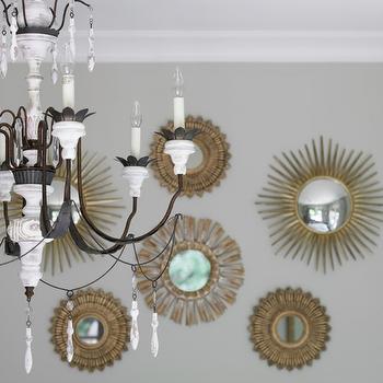 Gold Sunburst Mirrors, Transitional, bedroom, Courtney Giles Interiors
