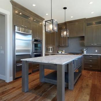 White Granite Countertops, Transitional, kitchen, Benjamin Moore Collingwood, Veranda Interiors