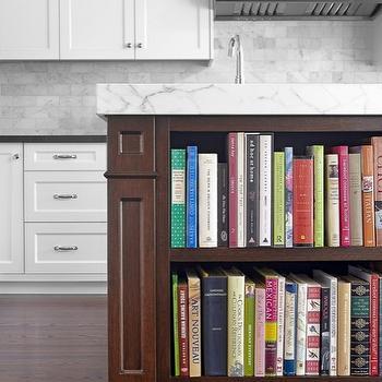 Island Cookbook Shelf, Contemporary, kitchen, Benjamin Moore Chantilly Lace, Palmerston Design