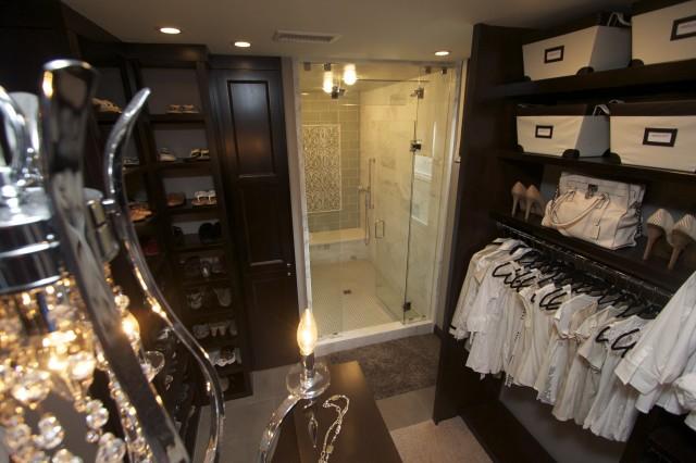 Walk Through Closet Contemporary Closet Robeson Design