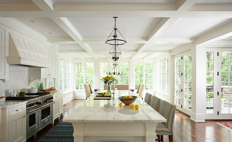 Coffered Ceiling Kitchen Traditional Kitchen Susan