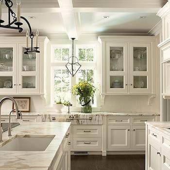 Off white kitchen cabinets transitional kitchen for Images of off white kitchen cabinets
