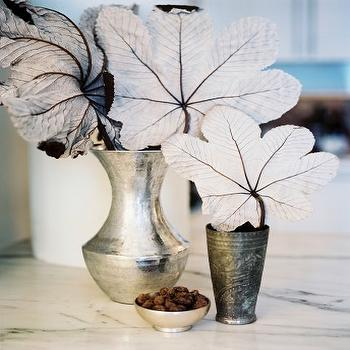 Hammered Metal Vases, Transitional, bedroom, Scout Designs NYC