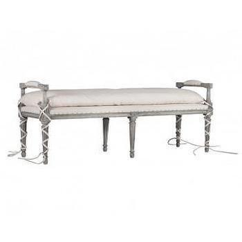 Andrew Bench in Stone Grey, Furniture