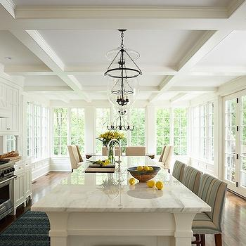 Coffered Ceiling Kitchen