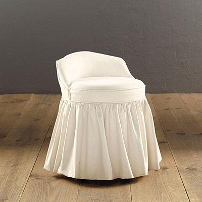 Monogrammed Slipcovered Swivel Stool   Ballard Designs