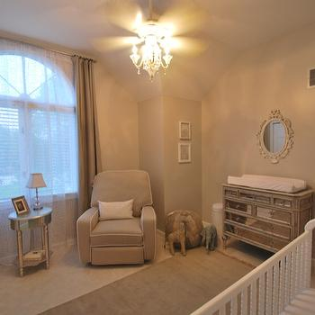 Mirrored Changing Table, Traditional, nursery, Olympic Tightrope
