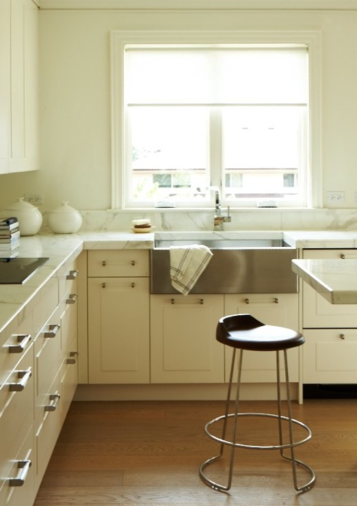 Lucite Pulls Contemporary Kitchen Cameron Macneil