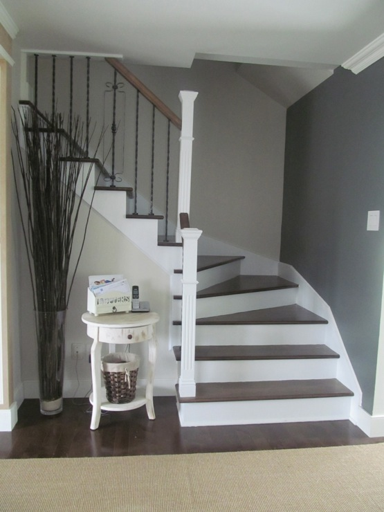 Entrance Foyer Benjamin Moore Veranda Anchor Gray