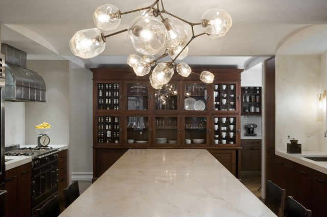 Glass orb chandelier contemporary kitchen david howell glass orb chandelier aloadofball Image collections