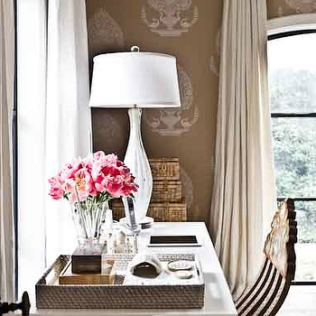 Beige Silk Curtains, Transitional, girl's room, Manny Rodriguez Photography