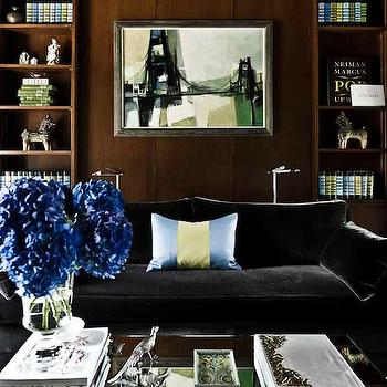 Black Velvet Sofa Design Ideas