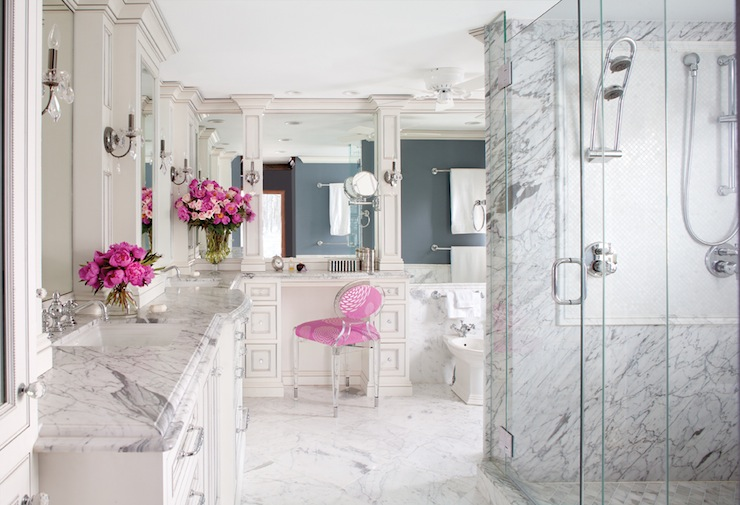 statuarietto marble transitional bathroom