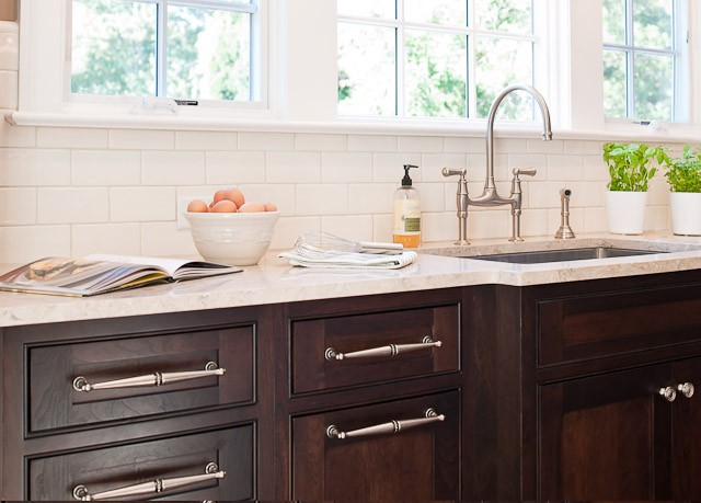 Chocolate Brown KItchen Cabinets  Traditional  kitchen  Town