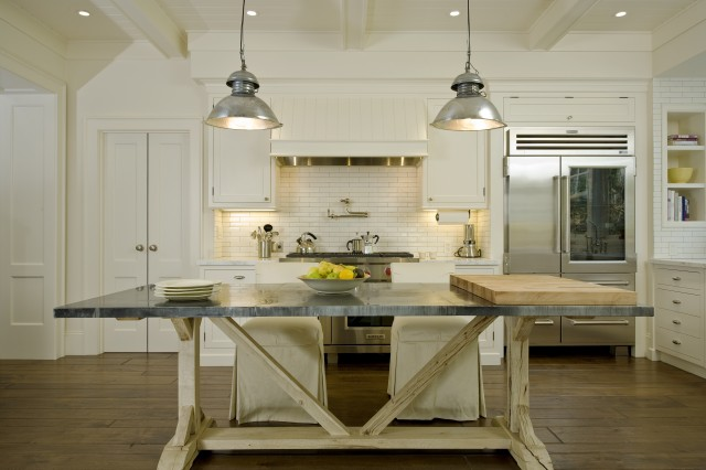 Trestle Dining Table Cottage kitchen Arcanum Architecture