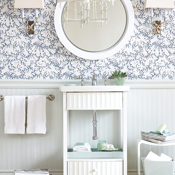 Beadboard Bathroom Vanity Cabinets
